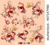 rose flower illustration  | Shutterstock .eps vector #407147980