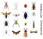 insect big icons set isolated... | Shutterstock .eps vector #407148463