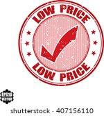 low price grunge stamp.vector | Shutterstock .eps vector #407156110