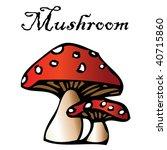 mushroom label | Shutterstock .eps vector #40715860