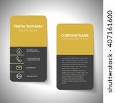 modern simple business card set ... | Shutterstock .eps vector #407161600