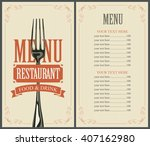 menu with fork for the... | Shutterstock .eps vector #407162980