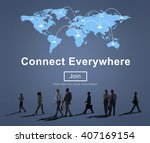 connect everywhere... | Shutterstock . vector #407169154