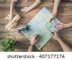 go on an adventure  happy... | Shutterstock . vector #407177176