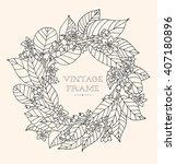forest flowers wreath  wild... | Shutterstock .eps vector #407180896