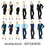 vector illustration of people... | Shutterstock .eps vector #407183650