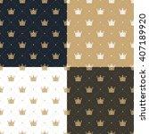 set seamless pattern in retro...   Shutterstock .eps vector #407189920