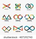 vector infinity logo set  flat... | Shutterstock .eps vector #407192743