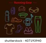 running gear for men and women. ... | Shutterstock .eps vector #407193940