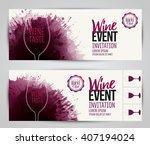design of invitation  ticket or ... | Shutterstock .eps vector #407194024