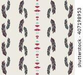 native mexican folk ethnic... | Shutterstock .eps vector #407198953