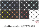 seamless x color pattern. | Shutterstock .eps vector #407199589