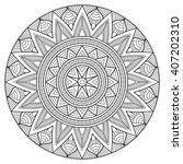 flower mandala. vintage... | Shutterstock .eps vector #407202310