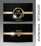 gold and black vip invitation... | Shutterstock .eps vector #407204104