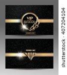 gold and black vip invitation... | Shutterstock .eps vector #407204104