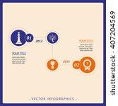 company achievement infographics | Shutterstock .eps vector #407204569