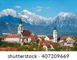 kranj  slovenia   panorama view ... | Shutterstock . vector #407209669