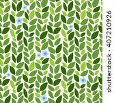 leaves pattern with flower.... | Shutterstock .eps vector #407210926