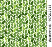 green leaves pattern. eco.... | Shutterstock .eps vector #407211118