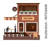 restaurant or cafe icon... | Shutterstock .eps vector #407216668