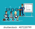 modern business teacher giving...   Shutterstock .eps vector #407220799
