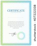 certificate. template diplomas  ... | Shutterstock .eps vector #407222338