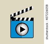 media player interface design  | Shutterstock .eps vector #407226058