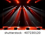 free stage with lights | Shutterstock . vector #407230120