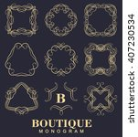 elegant monogram design. vector ... | Shutterstock .eps vector #407230534