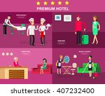 hotel staff and service ... | Shutterstock .eps vector #407232400