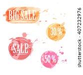 vector label icons. discounts...   Shutterstock .eps vector #407232976