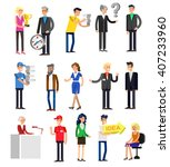 vector detailed characters... | Shutterstock .eps vector #407233960