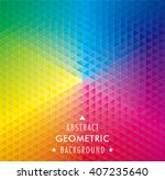 geometric pattern abstract... | Shutterstock .eps vector #407235640