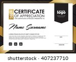 certificate template with clean ... | Shutterstock .eps vector #407237710