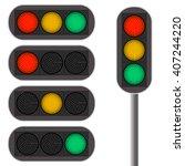 traffic light. led backlight.... | Shutterstock .eps vector #407244220