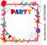 birthday celebration background ... | Shutterstock .eps vector #407244580