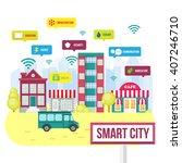 internet of things  iot vector... | Shutterstock .eps vector #407246710