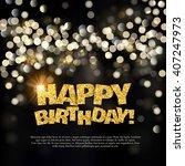 happy birthday card  | Shutterstock .eps vector #407247973