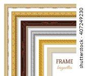 frame baguettes realistic set...