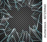 realisitc broken glass frame... | Shutterstock .eps vector #407250460