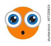 isolated orange vector emoticon.... | Shutterstock .eps vector #407250814