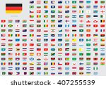 world flag illustrations in the ... | Shutterstock . vector #407255539