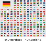 world flag illustrations with a ... | Shutterstock . vector #407255548