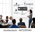 mindset belief discipline... | Shutterstock . vector #407259544