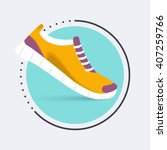 running shoes icon. training  ... | Shutterstock .eps vector #407259766