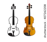 violin on a white background ... | Shutterstock .eps vector #407262208