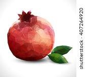 realistic unusual polygonal...   Shutterstock .eps vector #407264920