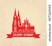 german city cologne travel... | Shutterstock .eps vector #407265433