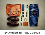 men's casual outfits with... | Shutterstock . vector #407265436