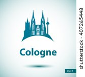 cologne city skyline silhouette.... | Shutterstock .eps vector #407265448